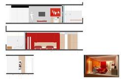 Diseño de habitación Imagen de archivo libre de regalías