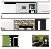 Diseño de habitación Fotos de archivo libres de regalías