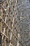 Diseño de haces de madera La intersección de las líneas Mucho Fotografía de archivo libre de regalías