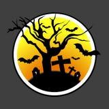 Diseño de Halloween con el árbol muerto Fotos de archivo libres de regalías