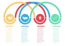 Diseño de Infographic Foto de archivo