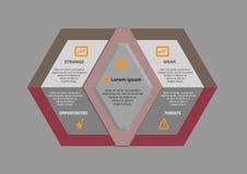 Diseño de Infographic Fotografía de archivo