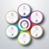 Diseño de Infographic con coloreado Fotos de archivo
