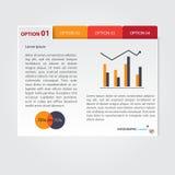 Diseño de Infographic en el fondo gris Fichero del vector del EPS 10 Fotos de archivo