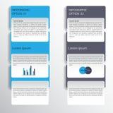 Diseño de Infographic en el fondo gris Fichero del vector del EPS 10 Foto de archivo libre de regalías