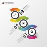Diseño de Infographic en el fondo gris Plantilla moderna colorida Ilustración del vector Fotografía de archivo