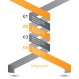 Diseño de Infographic para la graduación del producto Fotos de archivo