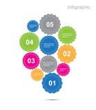 Diseño de Infographic para la graduación del producto Imagen de archivo