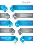 Diseño de Infographic para la graduación del producto Imágenes de archivo libres de regalías