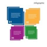 Diseño de Infographic para la graduación del producto Imagenes de archivo