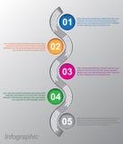 Diseño de Infographic para la graduación del producto Foto de archivo libre de regalías