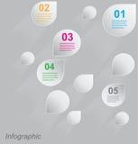 Diseño de Infographic para la graduación del producto Imagen de archivo libre de regalías