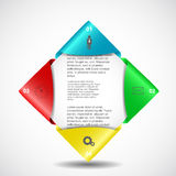 Diseño de Infographics Fotos de archivo