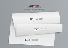 diseño de Infographics del Libro Blanco 3d Imágenes de archivo libres de regalías