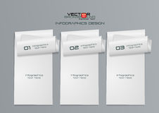 diseño de Infographics del Libro Blanco 3d Foto de archivo