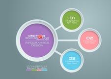 Diseño de Infographics del vector de los círculos Fotografía de archivo libre de regalías