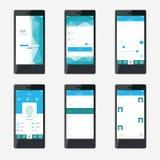 Diseño de interfaz de la aplicación móvil de la plantilla Fotografía de archivo libre de regalías