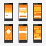 Diseño de interfaz de la aplicación móvil de la plantilla Imagen de archivo libre de regalías
