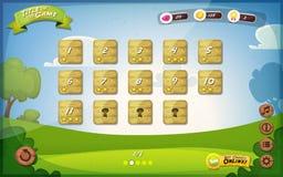 Diseño de interfaz de usuario del juego para la tableta Fotos de archivo libres de regalías