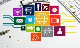 Diseño de interfaz para el móvil y la aplicación web Imagen de archivo libre de regalías