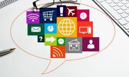 Diseño de interfaz para el móvil y la aplicación web Foto de archivo libre de regalías