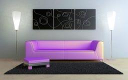 Diseño de interiores - negro y color de rosa ilustración del vector