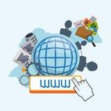 Diseño de Internet Imagen de archivo
