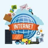 Diseño de Internet Foto de archivo