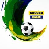 Diseño de juego de fútbol stock de ilustración