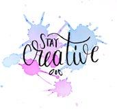 Diseño de la acuarela de estancia creativo imagen de archivo