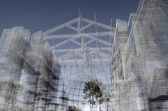 Diseño de la arquitectura en el sur de Italia Fotografía de archivo libre de regalías