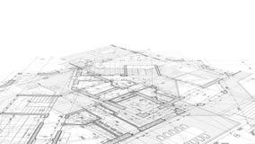 Diseño de la arquitectura: plan del modelo ilustración del vector