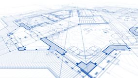 Diseño de la arquitectura: plan del modelo - ejemplo de una MOD del plan imágenes de archivo libres de regalías