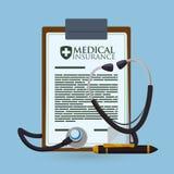 Diseño de la asistencia médica ilustración del vector