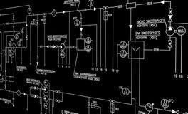 Diseño de la automatización de la ingeniería Foto de archivo libre de regalías