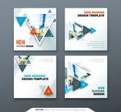 Diseño de la bandera La bandera abstracta cuadrada del vector con el triángulo forma para la plantilla del web stock de ilustración