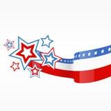 Diseño de la bandera americana del vector libre illustration