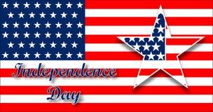 Diseño de la bandera americana para la celebración al Día de la Independencia Fondo con la estrella en colores patrióticos Diseño Fotografía de archivo libre de regalías