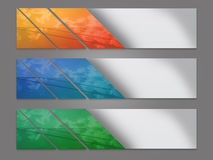 Diseño de la bandera de Infographic Imagen de archivo