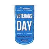 Diseño de la bandera del día de veteranos Imagen de archivo libre de regalías