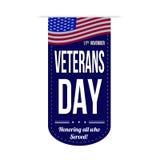 Diseño de la bandera del día de veteranos Foto de archivo