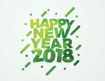 Diseño de la bandera del ejemplo del vector de la Feliz Año Nuevo 2018 Foto de archivo