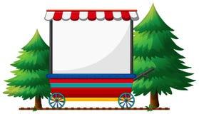 Diseño de la bandera en tienda móvil libre illustration