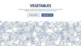 Diseño de la bandera de las verduras libre illustration