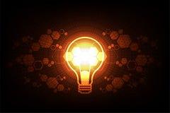 Diseño de la bombilla de la tecnología del vector Imagen de archivo