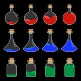 Diseño de la botella de la poción Fotografía de archivo