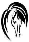 Diseño de la cabeza de caballo Imagen de archivo libre de regalías