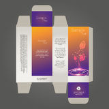 Diseño de la caja del perfume Fotos de archivo
