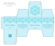 Diseño de la caja, pieza estampada en frío Foto de archivo libre de regalías