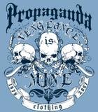 Diseño de la camiseta de la propaganda stock de ilustración